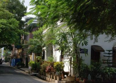 A l'angle de la rue de l'archevêché à Pondichéry
