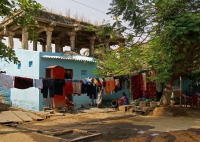 Une maison à Hampi Bazar avant que les lieux soient rendus à l'archéologie
