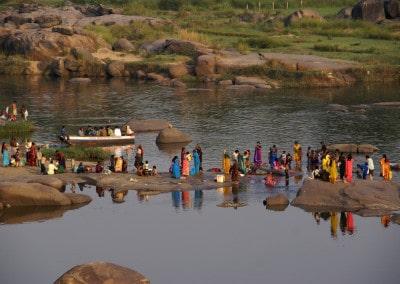 La rivière Tungabhadra à Hampi