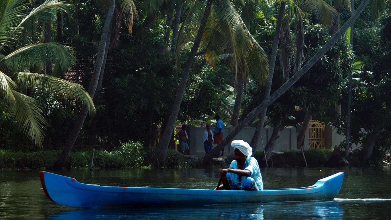 En canoé sur les backwaters