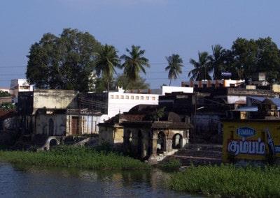 Un beau village sur la route entre Pondichéry et Kumbakonam