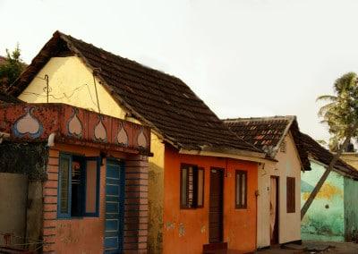 Vieilles maisons dans l'ancien quartier juif à Fort Cochin