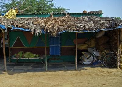 L'heure de la sieste, dans un village aux environs de Hampi