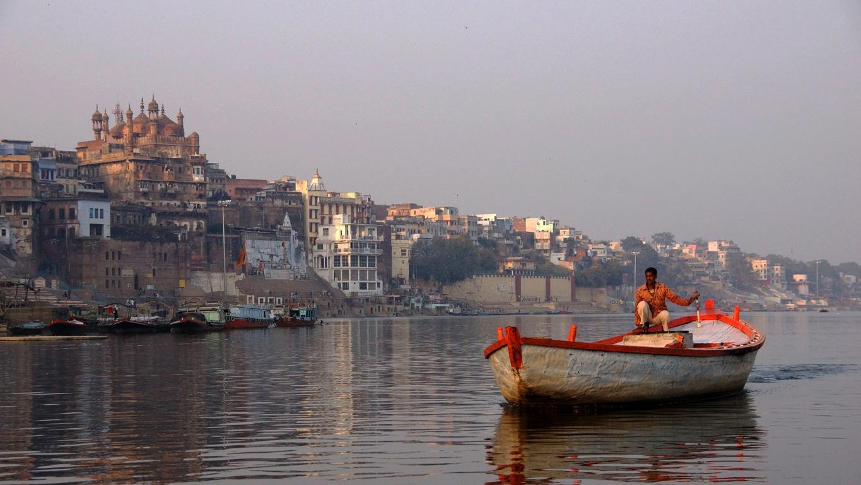 Navigation sur le Gange, à Varanasi