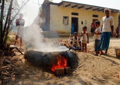 Un village isolé, aux environs de Varanasi