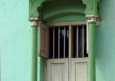 La fenêtre d'une maison musulmane dans un village de la région du Coorg (près de Madikeri -Karnataka)-