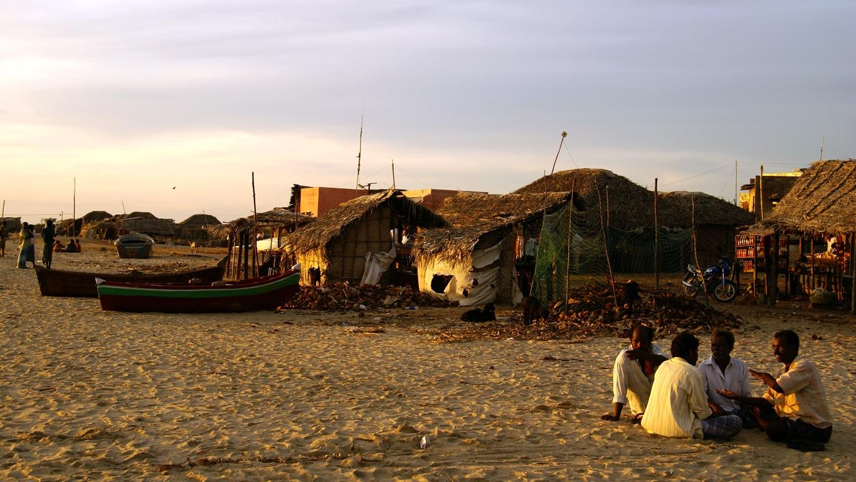 Village de pêcheurs sur la plage de Rameshwaram (Tamil Nadu)