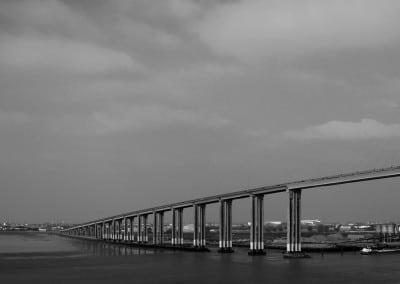 Ce magnifique pont enjambe la Loire à son estuaire à Montoir (port de Saint Nazaire).