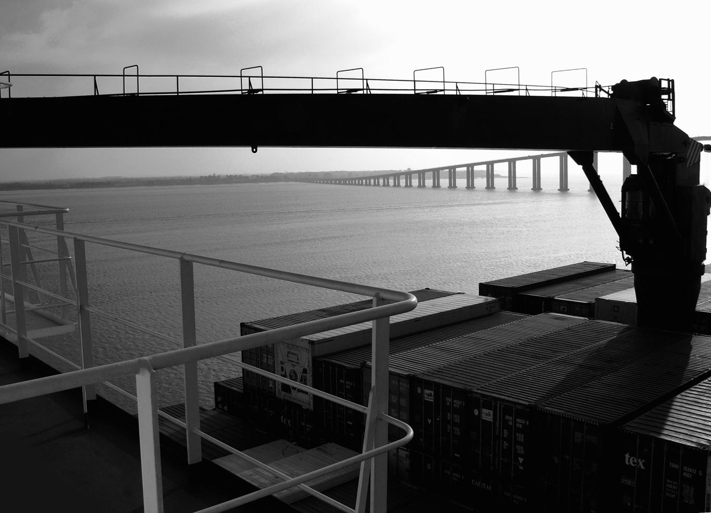 Le fantastique pont de Montoir depuis le Fort Saint Pierre à quai