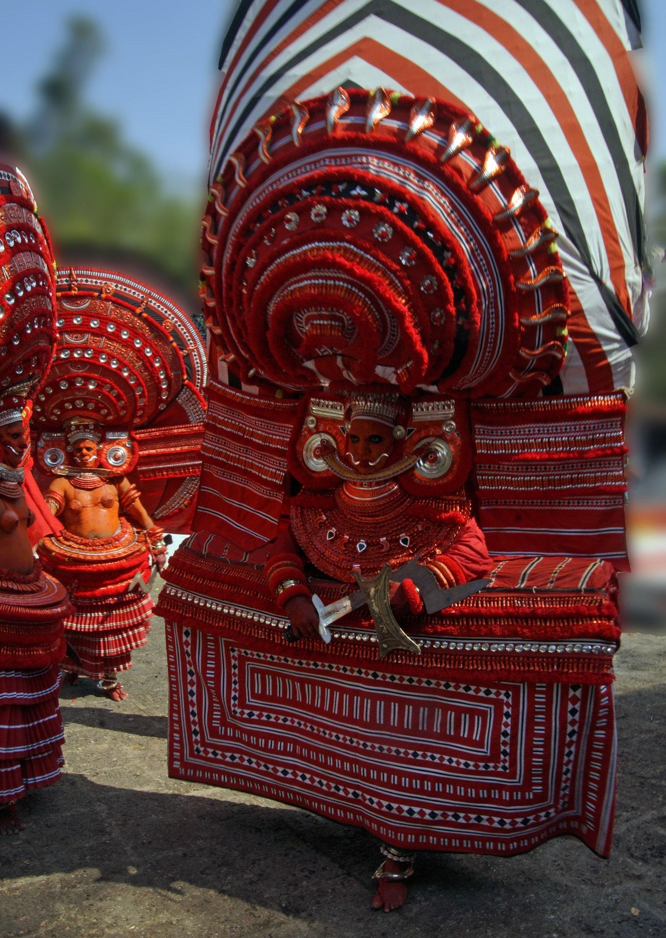 Rituel du theyyam - Kalloori - Kannur - Malabar
