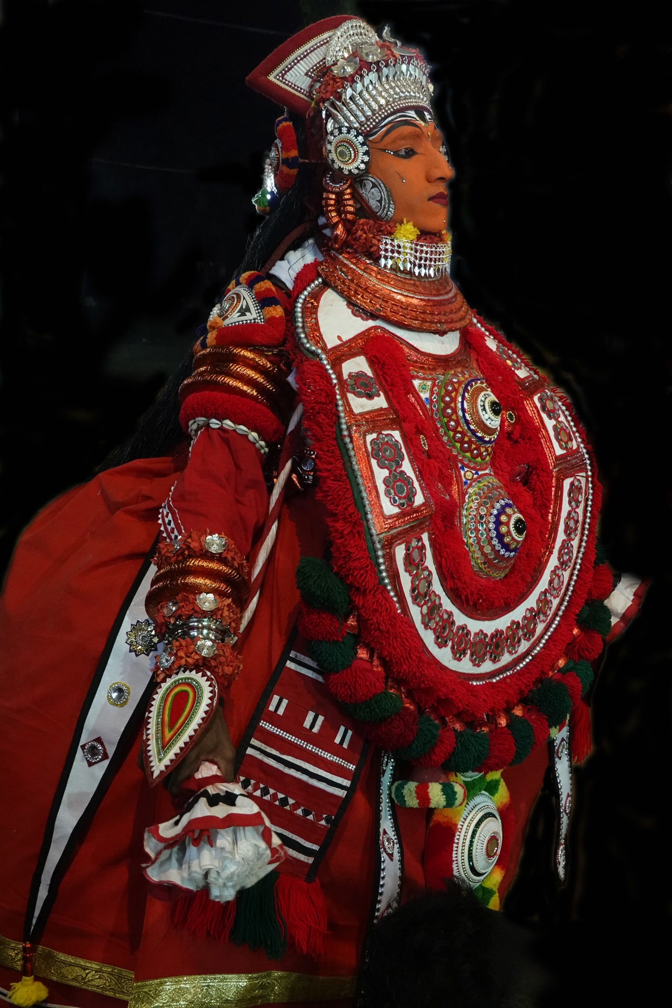 Ghandakarnan vellatam - rituel du theyyam - Kannur - Malabar