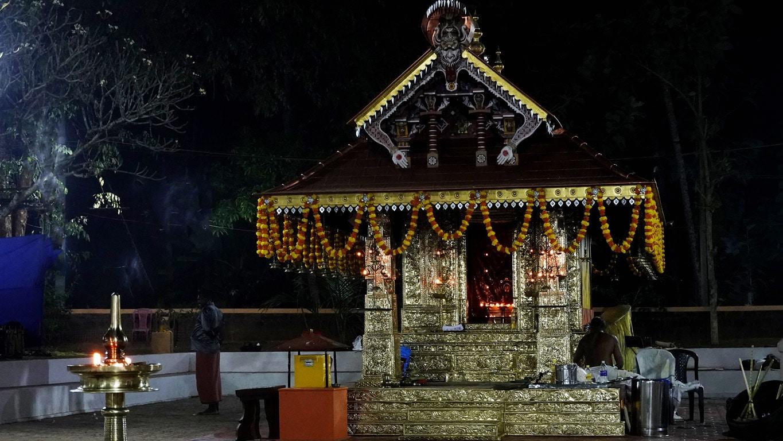 Rituel du theyyam - templion abritant un dieu - Kannur - Malabar