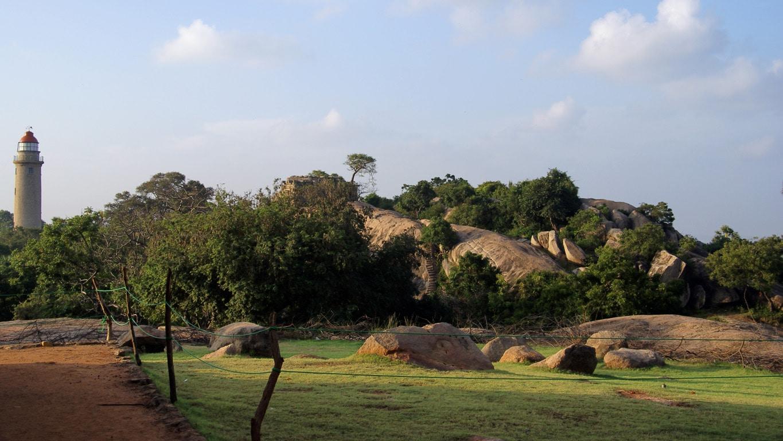 paysage autour du village de pêcheurs Tiger cave entre Pondichery et Mahabalipuram