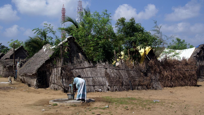 village de pêcheurs Tiger cave entre Pondichery et Mahabalipuram