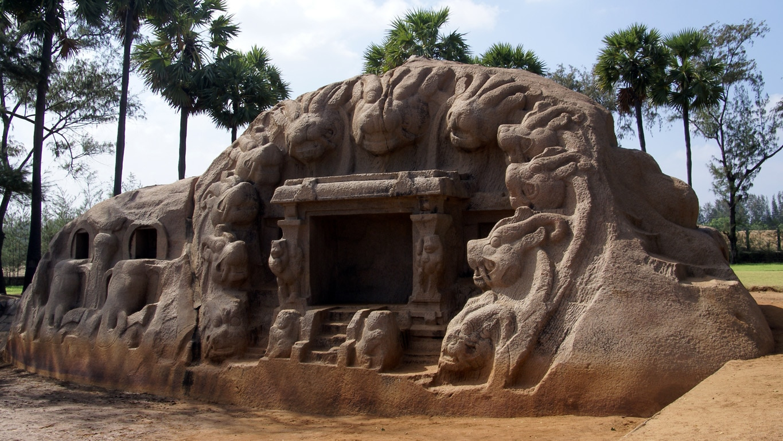 Tiger cave temple entre Pondichery et Mahabalipuram