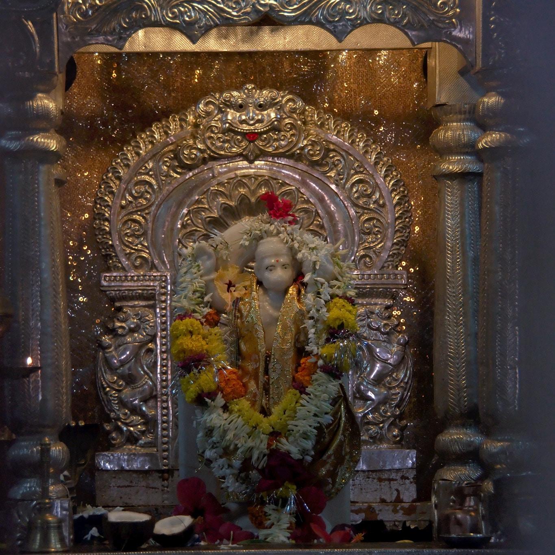 Très ancienne statuette dieu hindou à Goa
