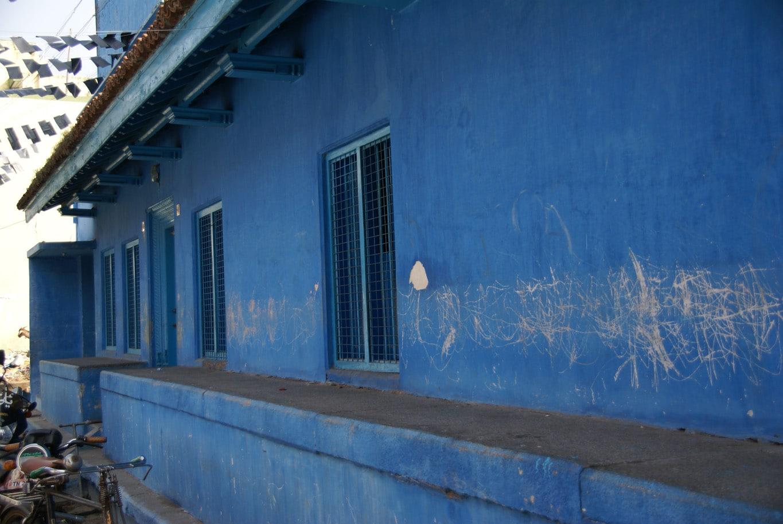 Maison bleue quartier musulman Vellore