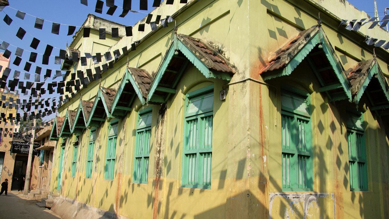 maison jaune quartier musulman Vellore
