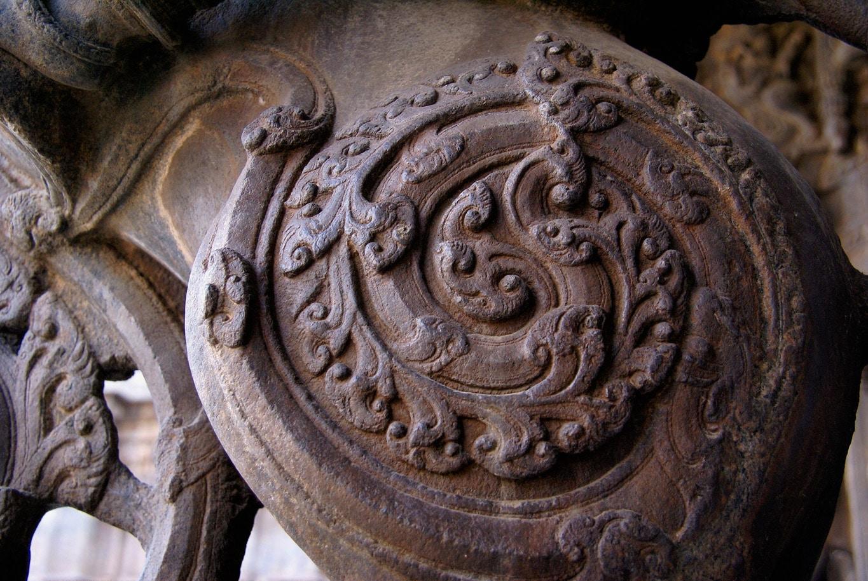 Médaillon en bas relief temple de Vellore